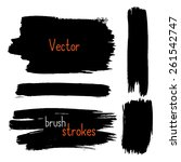 vector brush strokes. hand... | Shutterstock .eps vector #261542747