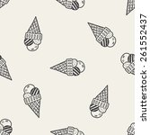 doodle icecream seamless... | Shutterstock .eps vector #261552437
