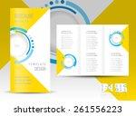brochure design template... | Shutterstock .eps vector #261556223