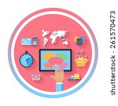internet shopping e commerce...   Shutterstock . vector #261570473