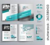 gray brochure template design... | Shutterstock .eps vector #261580433