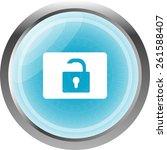 open padlock icon web sign... | Shutterstock .eps vector #261588407