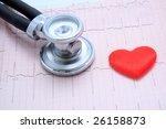 stethoscope and heart | Shutterstock . vector #26158873