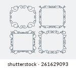 set of 4 decorative... | Shutterstock .eps vector #261629093
