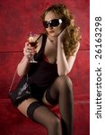 sexy women in short dress   Shutterstock . vector #26163298
