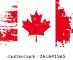 scratched canadian flag. a flag ... | Shutterstock .eps vector #261641363