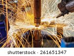 industrial welding automotive... | Shutterstock . vector #261651347