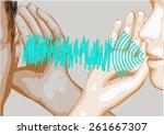 speak and listen | Shutterstock .eps vector #261667307