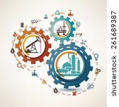 oil and gas industry... | Shutterstock .eps vector #261689387