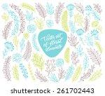 vector floral set. graphic... | Shutterstock .eps vector #261702443