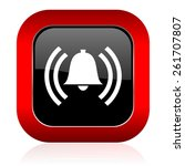 alarm icon alert sign bell... | Shutterstock . vector #261707807