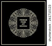 premium art nouveau frame copy... | Shutterstock .eps vector #261710123