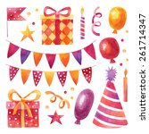 Vector Birthday Party Set With...