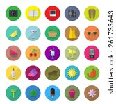 flat icons set  vector...