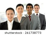 multi ethnic business people... | Shutterstock . vector #261738773