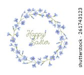 happy easter greeting card.... | Shutterstock .eps vector #261743123