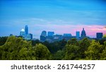 skyline of austin  texas at dusk   Shutterstock . vector #261744257