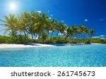 beautiful tropical sea | Shutterstock . vector #261745673