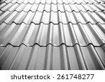 gray tile roof floor background.... | Shutterstock . vector #261748277