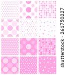 seamless pattern or texture... | Shutterstock .eps vector #261750227