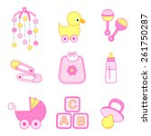 cute baby girl icon  ... | Shutterstock .eps vector #261750287