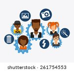 social network design  vector...