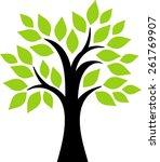 decorative tree | Shutterstock .eps vector #261769907