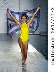 miami  fl   july 18  a model... | Shutterstock . vector #261771173