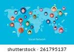 social media network concept... | Shutterstock .eps vector #261795137