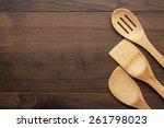 different wooden kitchen tools... | Shutterstock . vector #261798023
