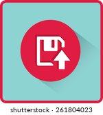floppy disk download. flat... | Shutterstock .eps vector #261804023