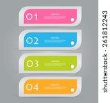 infographics template for... | Shutterstock .eps vector #261812243