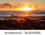 Small photo of Sunset on the Mediterranean Sea. Adriatic Sea.