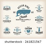 vintage nautical labels or... | Shutterstock .eps vector #261821567