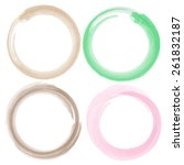 watercolor circle vector  frame    Shutterstock .eps vector #261832187