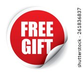 free gift sticker and tag   red | Shutterstock . vector #261836837