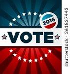patriotic 2016 voting poster...   Shutterstock .eps vector #261837443