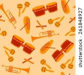 cuban music instruments vector... | Shutterstock .eps vector #261848927