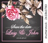 wedding invitation with... | Shutterstock .eps vector #261863783