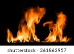 fire flames abstract on black... | Shutterstock . vector #261863957