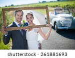 Charming Bride And Groom Posin...
