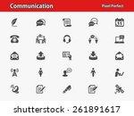 communication icons.... | Shutterstock .eps vector #261891617