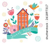home sweet home concept... | Shutterstock .eps vector #261897317