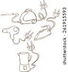 household appliances. vector... | Shutterstock .eps vector #261915593
