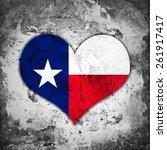 Texas Flag Heart And Wall...