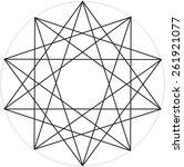 geometric design grid | Shutterstock .eps vector #261921077