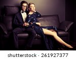 beautiful gorgeous couple in... | Shutterstock . vector #261927377