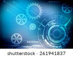 digital abstract business... | Shutterstock . vector #261941837