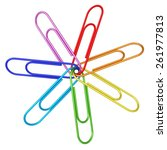 Colorful Paper Clips Chained...