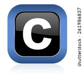 copyright square glossy icon   | Shutterstock . vector #261986837